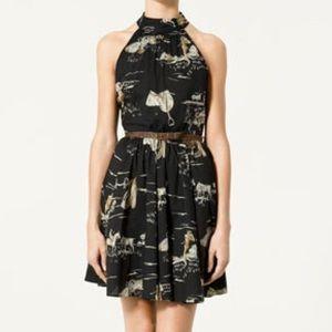 Zara Polo Equestrian Horse Print Dress